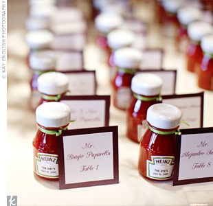 Ketchup Escort Cards