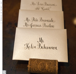 Envelope Escort Cards