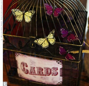 Card Birdcage Holder