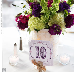 Floral Birch Centerpieces