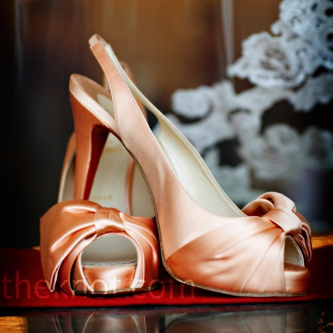 Peach Bridal Shoes
