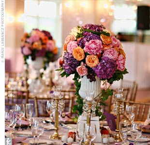 Floral Urn Centerpieces