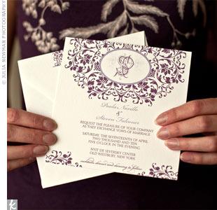 Monogrammed Wedding Invitations