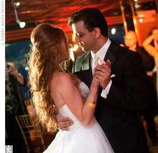 The couple hired a DJ and a band to play a variety of songs, ranging from Hindi music to country and western.