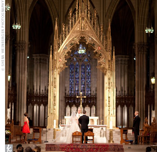 The epitome of classic Manhattan style, Saint Patrick's Cathedral provided a breathtaking backdrop for the ceremony.