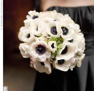 White Anemone Bouquets