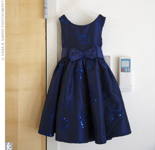 Blue Flower Girl Dress