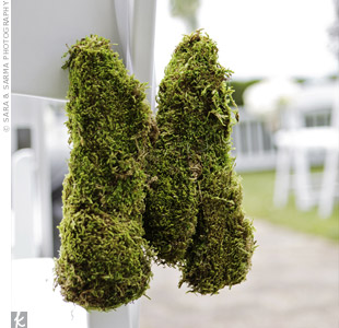 Moss Ceremony Decor