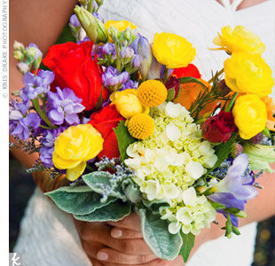 Multicolored Bridal Bouquet