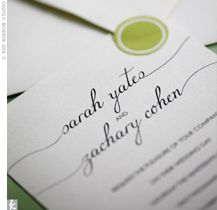 White and Green Invitations