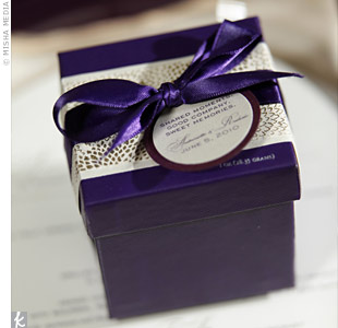 Purple Chocolate Favors