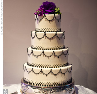 Scroll-Work and Pearl Cake