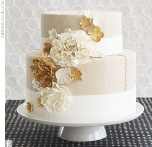 Khaki Wedding Cake