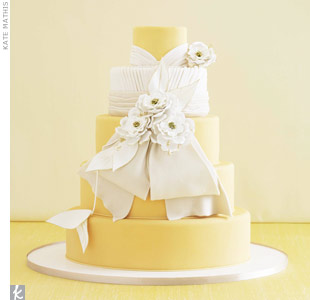 Formal Orange Wedding Cake