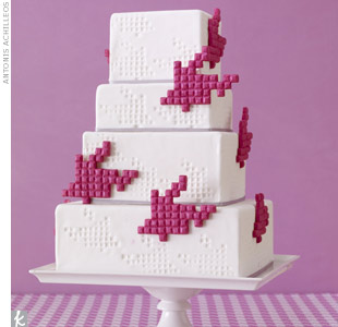 Tetris Wedding Cake