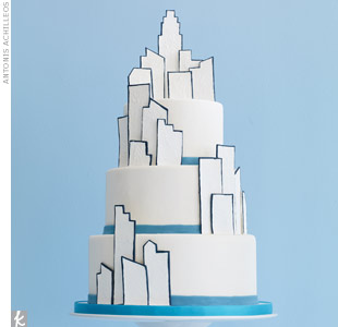 Skyline Wedding Cake