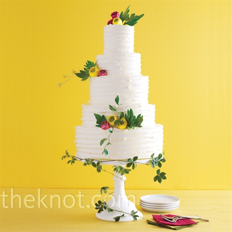 Buttercream Garden Wedding Cake