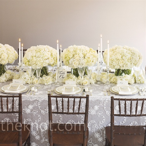 Formal White Wedding Reception