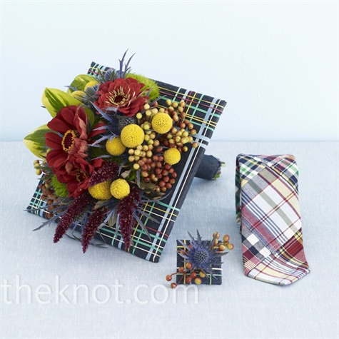 Plaid Bridal Bouquet