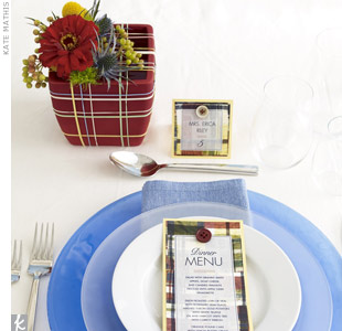 Plaid Place Setting