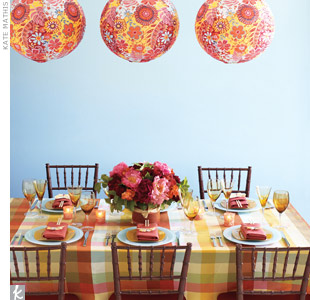 Plaid Table Setting