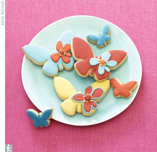 Butterfly Wedding Cookies