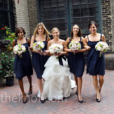 Navy Blue Bridesmaid Dresses