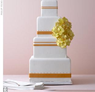 Classic Orange Wedding Cake