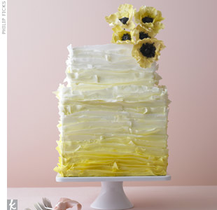 Elegant Yellow Wedding Cake