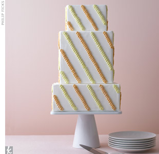 Modern Orange Wedding Cake