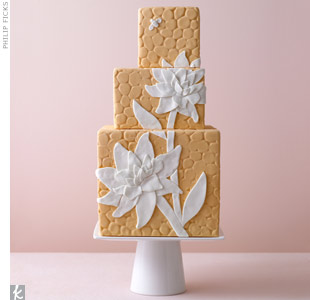 Playful Orange Wedding Cake