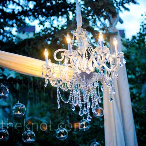 Outdoor Crystal Chandelier