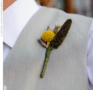Yellow Wildflower Boutonniere