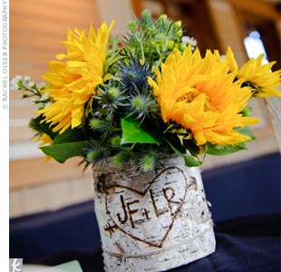 Yellow and Green Centerpieces