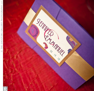 Purple and Gold Wedding Invitations