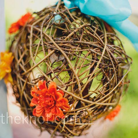 Wicker Ceremony Decor
