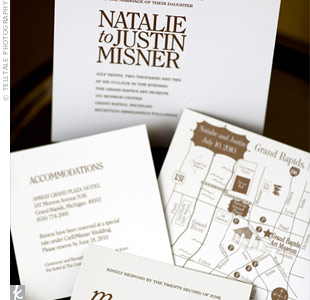 White and Brown Invitations