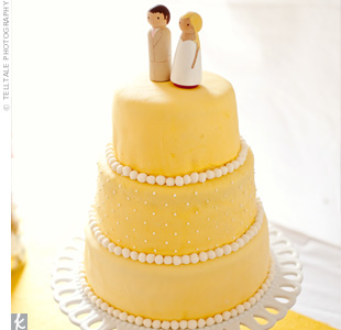 Yellow Dot Cake
