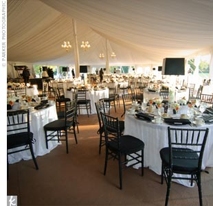 Tall Lampshade Centerpieces
