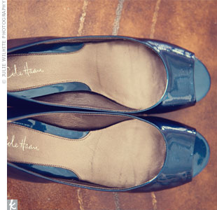 "The ""something blue""? A pair of Cole Haan flats."
