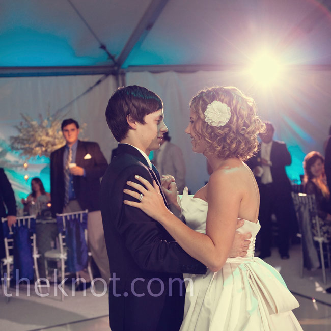 "Allison and Alex chose Paul McCartney's ""Maybe I'm Amazed"" for their first dance."