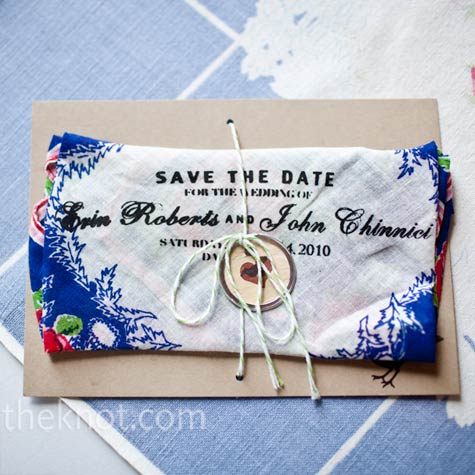 Save-the-Date Handkerchiefs