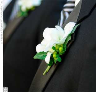 White Wedding Boutonnieres