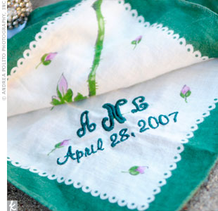 Monogrammed Wedding Handkerchief