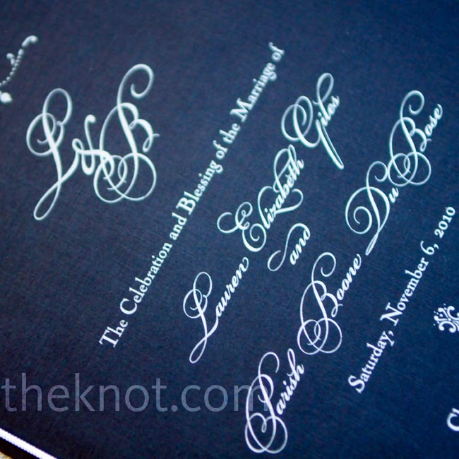 Black paper and silver ink gave the invitations an elegant, formal look.