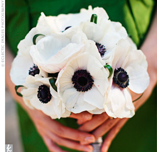 White Anemone Bouquet