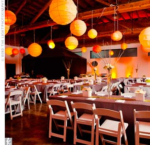 Orange lighting warmed up the cool color palette and the urban space.