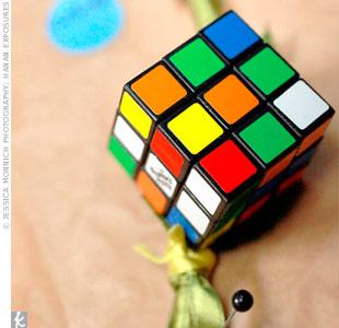 Rubik's Cube Boutonniere