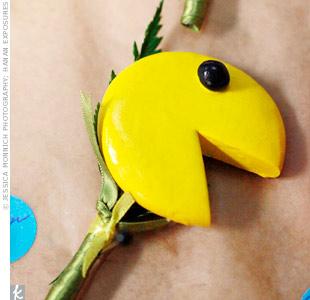 Pac Man Boutonniere