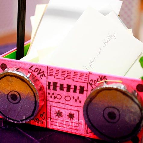 Boom Box Card Box
